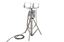 Portable Telescoping LED Light Tower - 144 Watts - 120-277VAC - Extends 3' - 8' - 8,640 Lumen