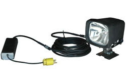 Permanent Mount 70 Watt HID Spotlight w/ Adjustable Handle - Pivots and Rotates - 220 VAC
