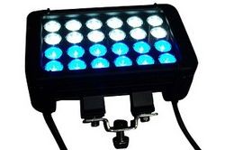 12 Blue LEDs, 12 White LEDs - 72 Watts - PWM Dimmable Floodlight - Dual Wires - Low Profile Housing