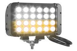 LED Light Emitter - 12 Amber LEDs, 12 White LEDs - 72 Watts - 800'L X 100'W Spot Beam -  9-42VDC
