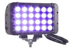 120 Watt Ultraviolet LED Light Emitter - 24 UV LEDs - 365NM - 9-42VDC - NDT - Extreme Environment