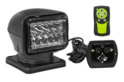 36 Watt Golight Stryker Wireless Remote Control LED Spotlight - 12 Volt DC - Black - Permanent Mount