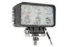 Luz de Inundação LED 18 Watt - 1400 Lumens - Seis LEDs 3-Watt - 10-32 Volt DC - IP67 Impermeável