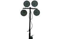 30 Foot 3-Stage Skid System Light Tower com quatro 1000 Watt Halide Metal Lights