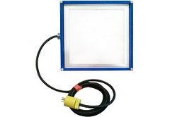 Luz de inundación LED 18 Watt - Panel 1X1 LED - Conexión en cadena Daisy - Marco Delrin - Anillos en D - 120-277V