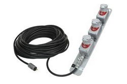 Explosion Proof 150 Foot SOOW Extension Cord - Triple Gang Outlets - 20 Amp Continuous Service