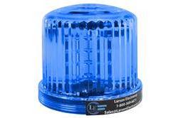 Sinine LED 360 kraadi märgutuli - 20 LEDS - akutoitel - magnetiline alus