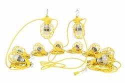 100ft ajutine ehituskeel - kümme LED töövalgustit - 100 Watt LED Stringer - 12 / 3 SJTW