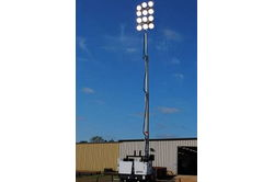 Larson Electronics Megatower® - 9 X 1500W MH - 1,350,000 Lumens- 50' Height - Trailer Mounted