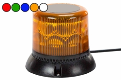 10.2 Watt Single LED Strobing Beacon - Surface Mount - Blue, Red, Amber - High Output Strobe Light
