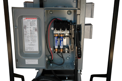 temporary power distribution with 7 5 kva 480 volt transformer and two 120v gfci outlets. Black Bedroom Furniture Sets. Home Design Ideas