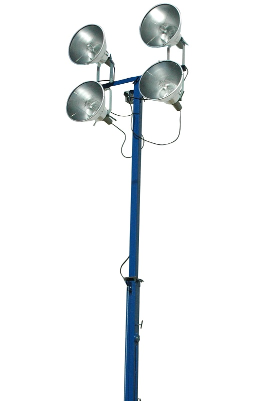 The LM-30-3S-TLR fitted with four HID-22-SL-REM 1000 Watt Metal Halide Light Fixtures