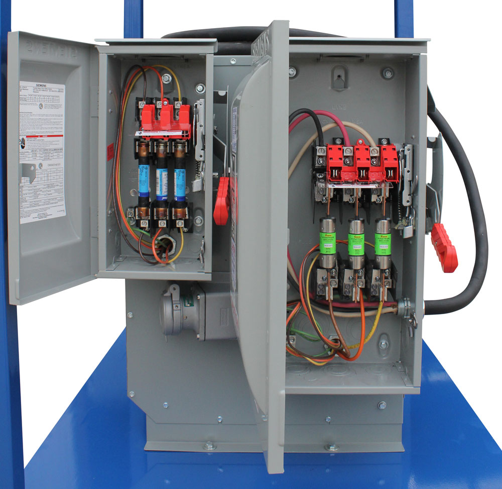 Power Substation 25 Kva 480v Ac To 10 X 120v 2 240v Gfci Wire Diagram This Secondary Panel Contains Two 30 Amp Breakers Protecting L6 30r Twist Lock Receptacles And Ten 20