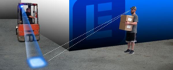 Explosion Proof Blue Forklift Led Warning Spotlight C1d1
