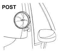 post mount light position